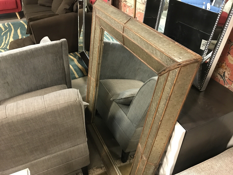 Vintage Mirror (Brushed Brass & Wood) 3