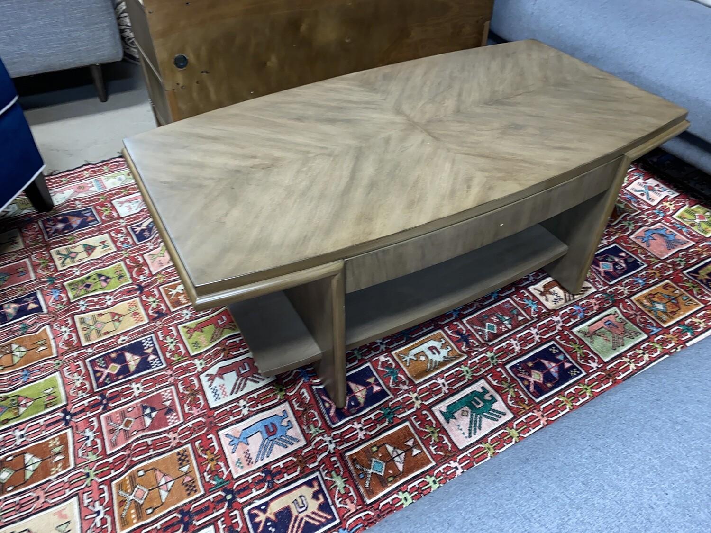 BMC coffee table (wood, drawer)