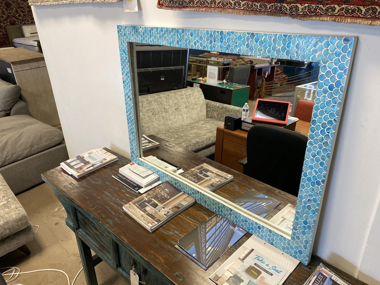 Decorative Mirror - Fish Scale Blue 25