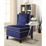 Ozella Accent Chair - 59574 - Dark Blue Velvet