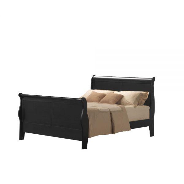 Louis Philippe III Queen Bed - 19500Q - Black