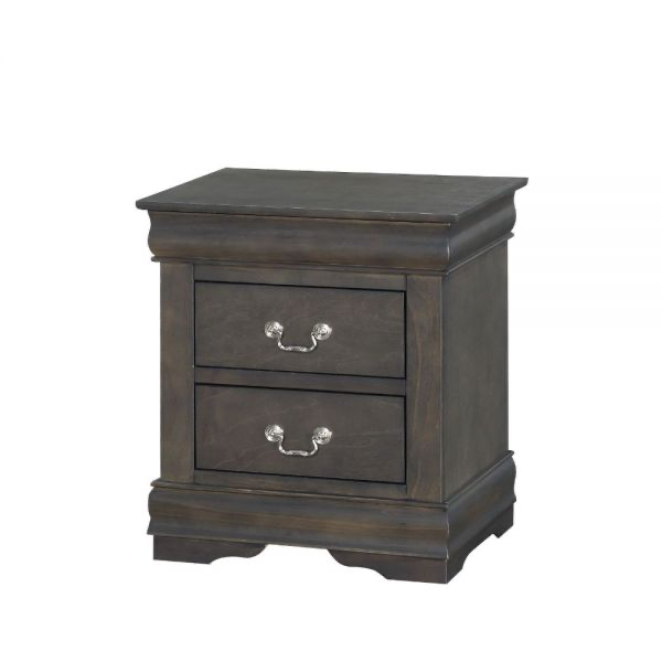 Louis Philippe Nightstand - 26793 - Dark Gray
