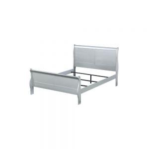 Louis Philippe Queen Bed - 26730Q - Platinum