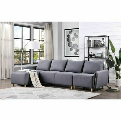 Marcin Sectional Sofa - 51830 (Gray Fabric)