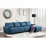 Marcin Sectional Sofa (Blue Fabric)
