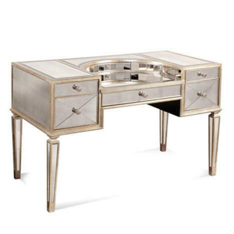 Bassett Mirror 8311-579 Borghese Mirrored Vanity Desk 1526