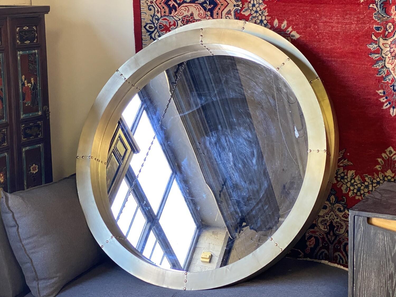 Gavin Wall Mirror - Bassett Mirror Company - 46RD Aluminum - M4098