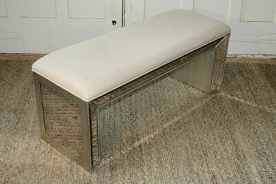 Bassett Mirror Company Murano Bench Hollywood Glam
