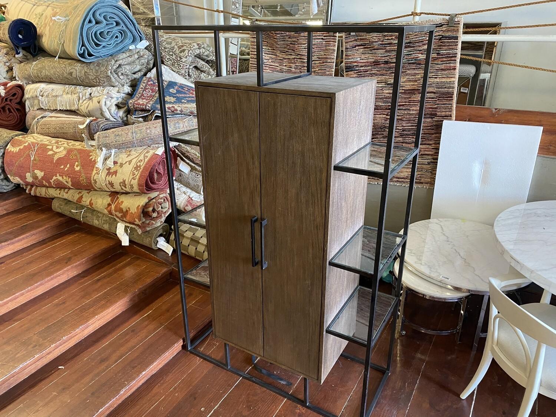 Bar Cabinet w/ glass exterior shelves