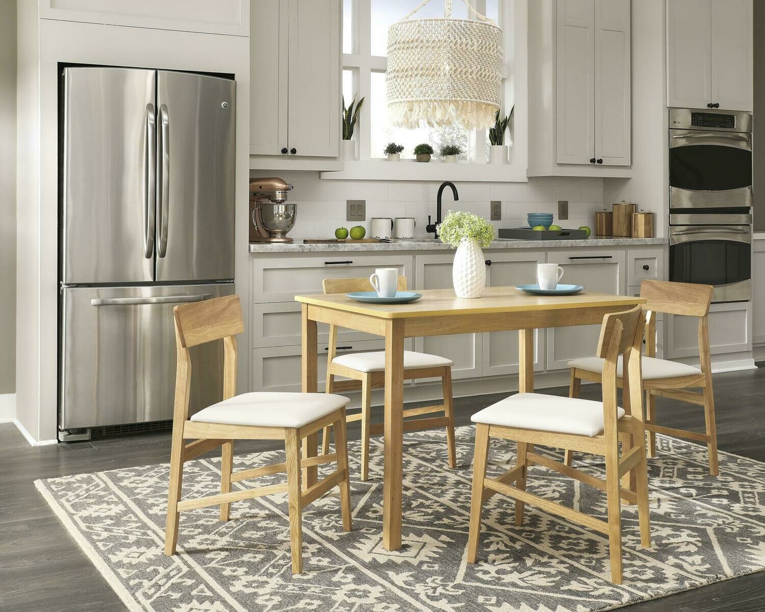 RIno Dining Table w/ 4 chairs (D859-10G)