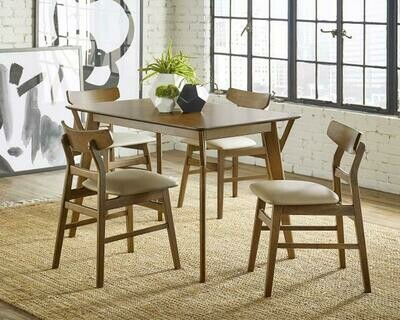 Lowmar Dining Table w/ 4 chairs (D875-10)