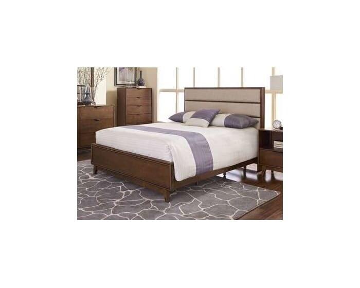 Mid-Mod Cinnamon King Uph Panel Bed (B106-94, 95, 78)