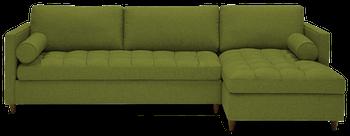JB Briar Sleeper Sectional (Faithful Olive) 4136