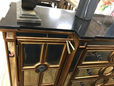 BMC Bronze & Mirror Buffet Console