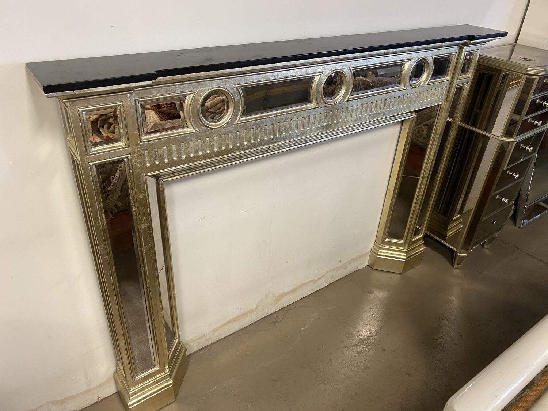 Glam Mirror Fireplace Mantel Surround
