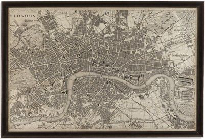 Bassett Mirror Company Accessories Vintage Map Of London 9900-262