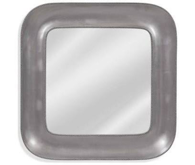 Bassett Mirror Lillian Silver Leaf Wall BAM4202