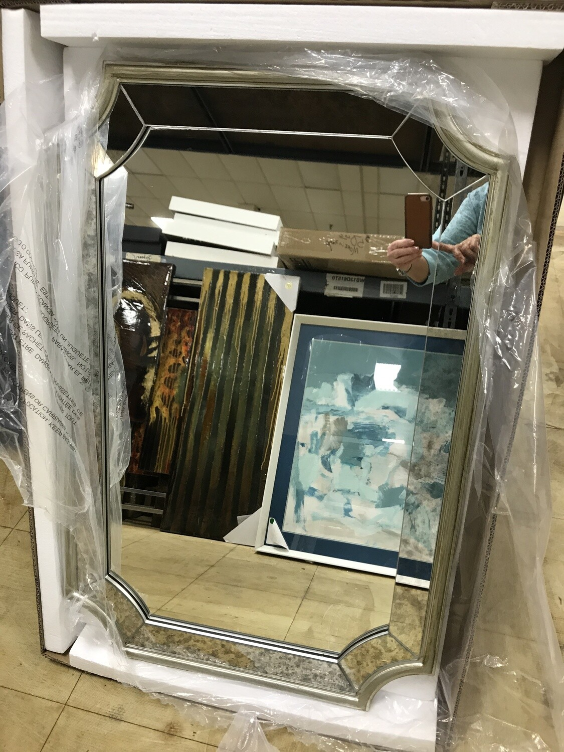 Table/ Wall Mirror - Silver