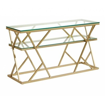 Bassett Mirror Gravatt Gold Console Table