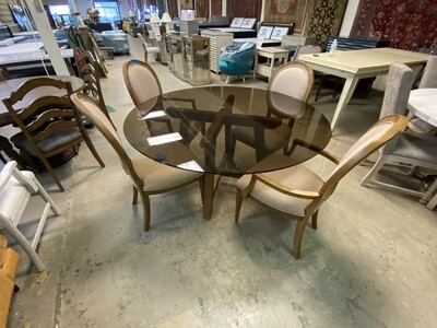 Bassett Mirror Esmond Table w/ 4 Chairs in Rustic Pine