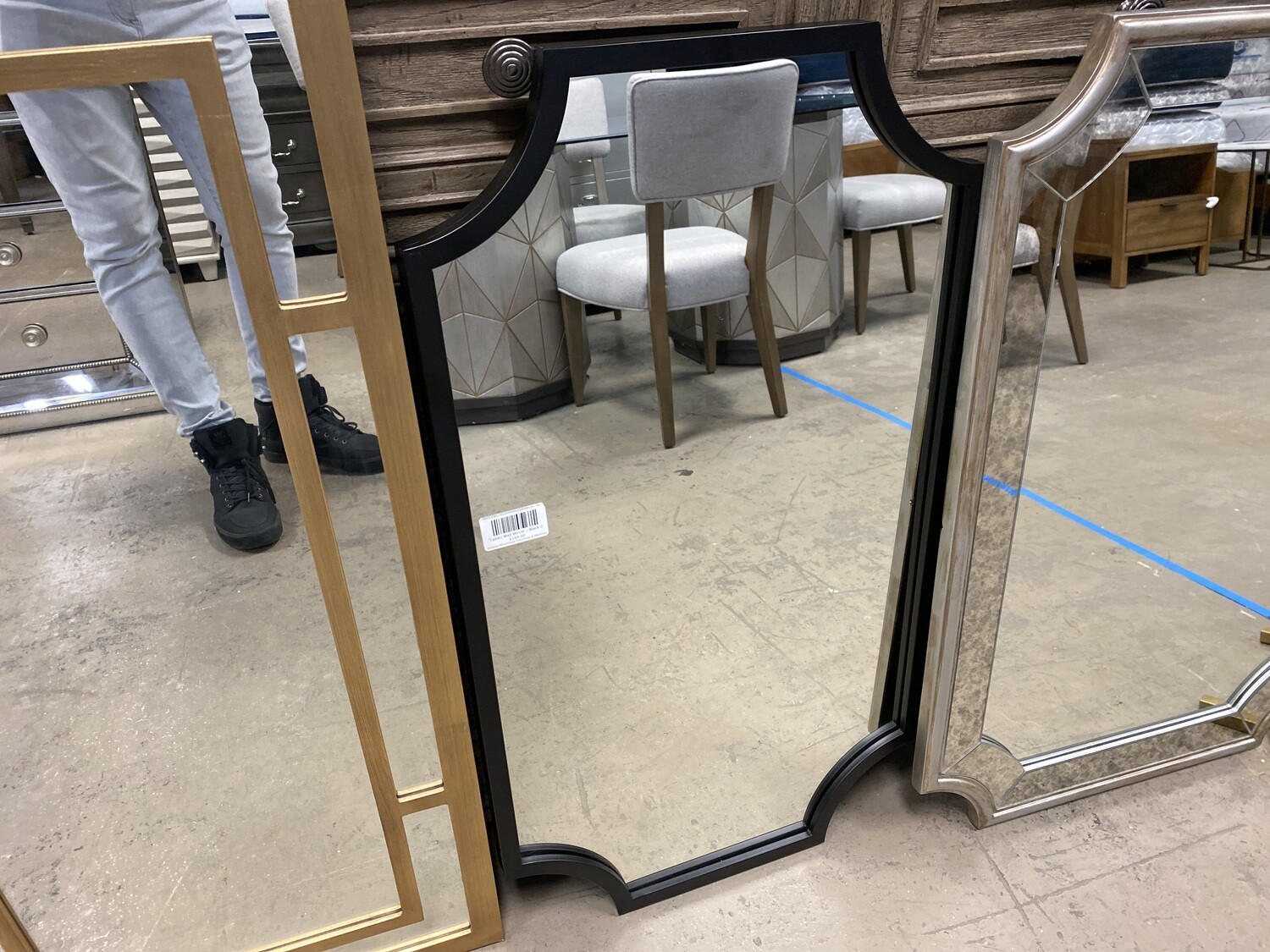 Table/ Wall Mirror - Black 2