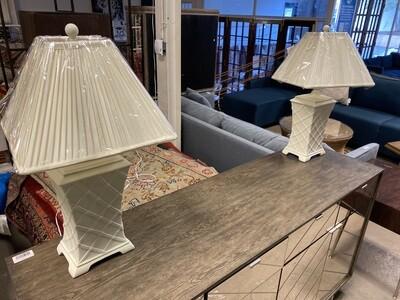 Bassett Mirror - White Lamp Set