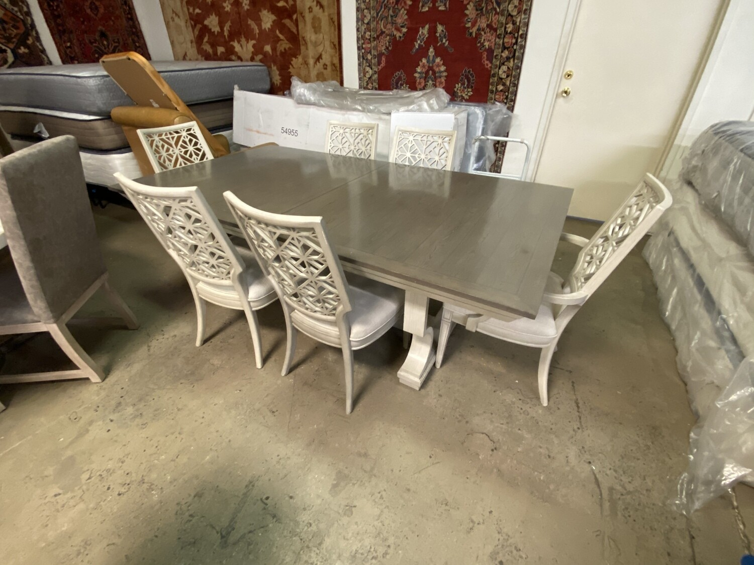 Stanley Furniture - Birch Table with Leaf & 6 Chairs