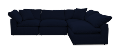 JB Bryant Sectional (4-pcs) Bentley Indigo 5044