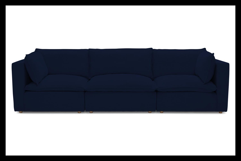 JB Haine Modular Sofa w/ Ottoman (Royale aka Velvet Cobalt) 5306