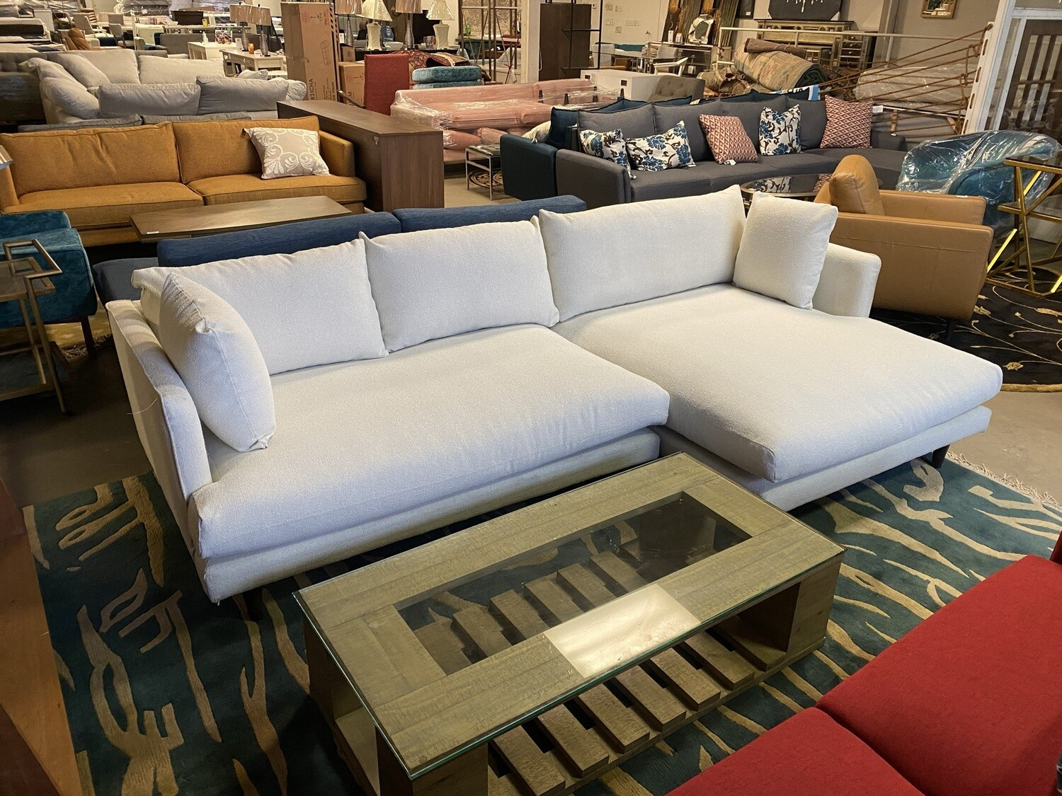 JB Lewis Sectional (Tussah Blizzard) 3564