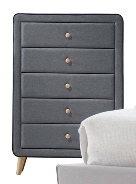 Valda Chest - 24526 - Light Gray Fabric