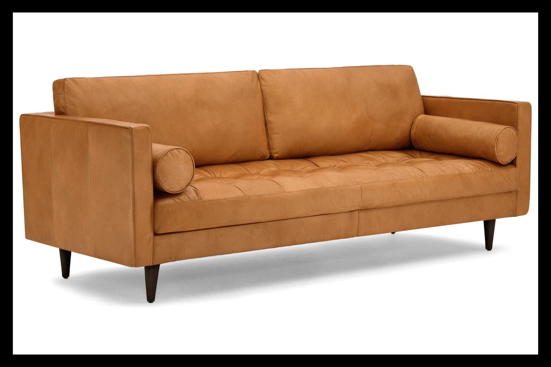 JB Briar Leather Sofa (Santiago Camel) 2993