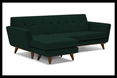 JB Hughes Reversible Sectional w/ Extra Sofa Cushion (Royale Evergreen) 3376