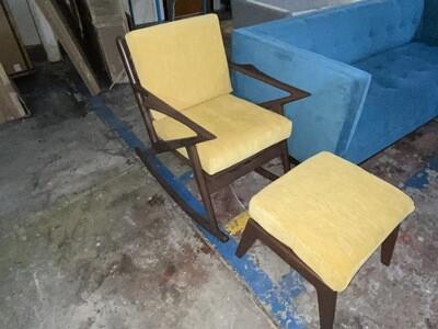 JB Soto Rocking Chair w/ Ottoman (Bentley Daisey) 1559