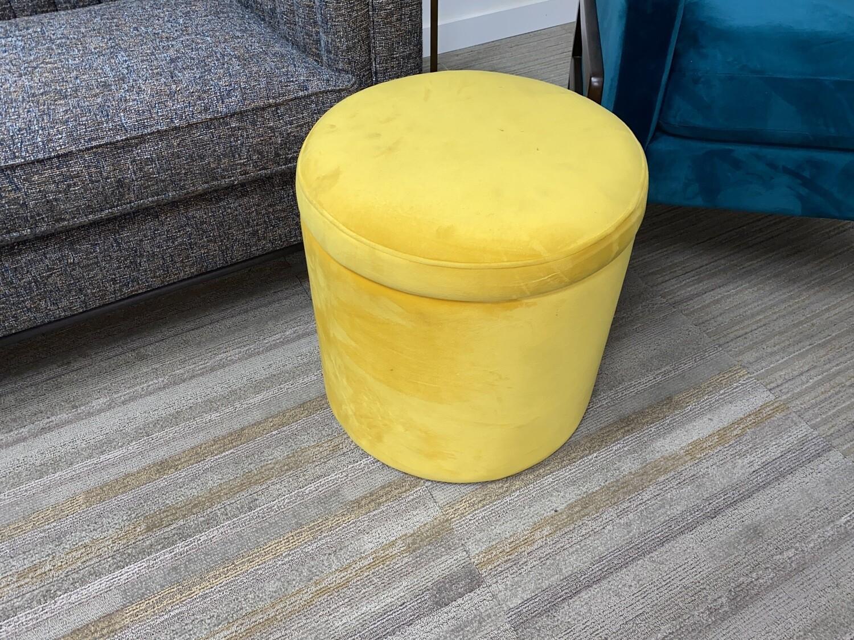 JB Quinn Petite Storage Ottoman (Yellow Velvet) 601