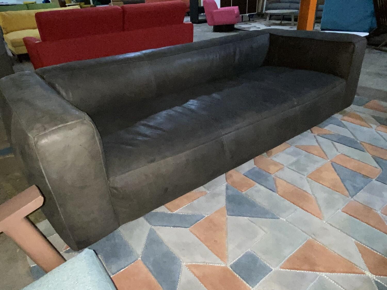 JB  Jaxon Leather Sofa (Toledo Graphite) 3857