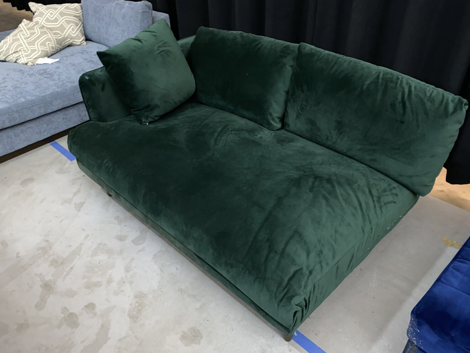 JB Lewis Sectional (1/2 of a sectional) (Royale Evergreen)1902