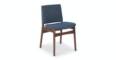 Article Nosh Dining Chair (Denim Blue & Walnut)(Priced as 2 in pair)