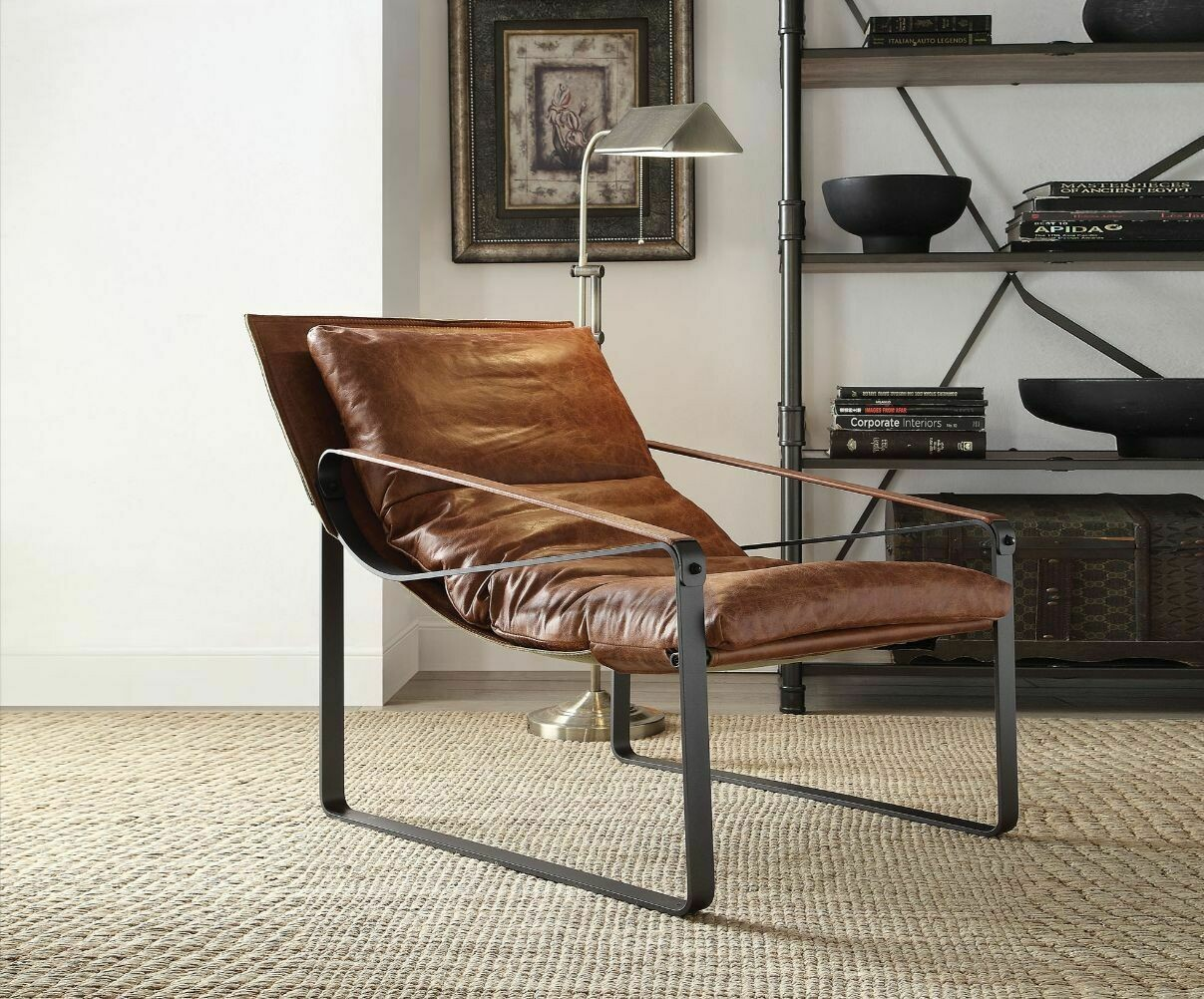 Quoba Accent Chair - Cocoa Top Grain Leather