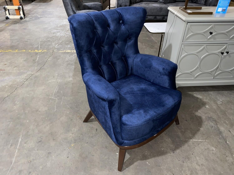 Chester Blue Velvet Chair