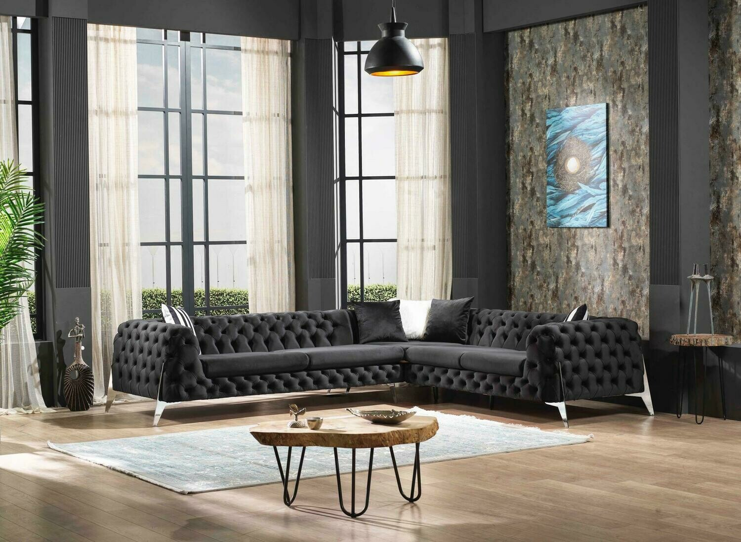 New Class Black Sectional