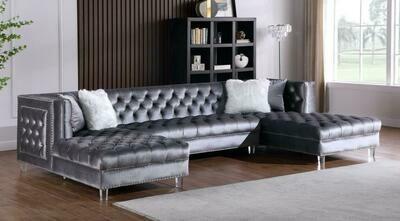Vienna Grey Velvet Sectional