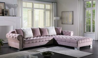 Kylie Pink Velvet Sectional
