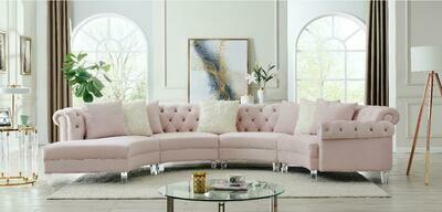 Liliana Pink Velvet Sectional