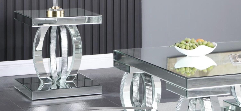 Dahler Mirror End Table