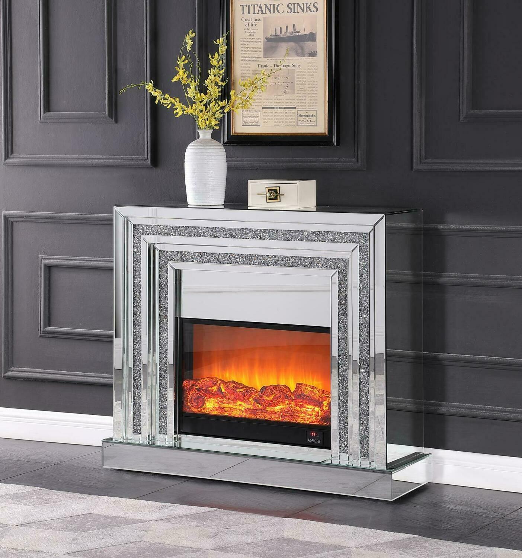 TV Mirror Stand w/ Fire Insert