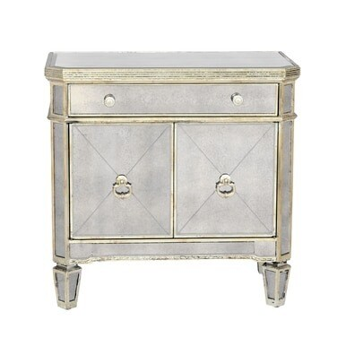 Z Gallerie - Borghese Mirrored Nightstand