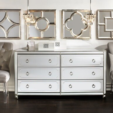 Z Gallerie - Simplicity Mirrored 6 Drawer Chest