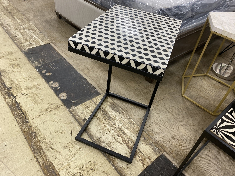 Checkered Black & White Table