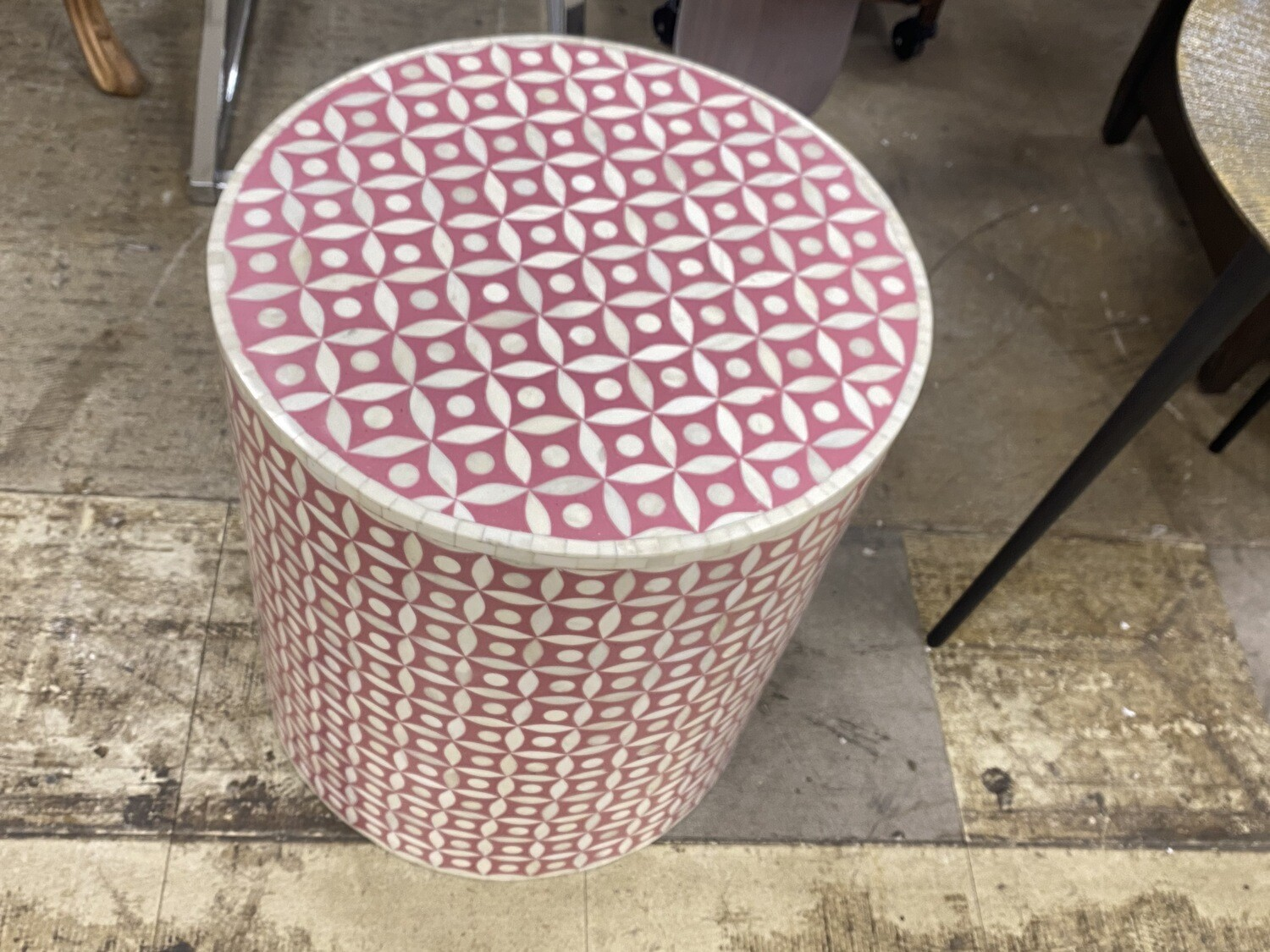 Pink & White Marble Table